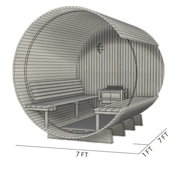 sauna plans for pre-made kit