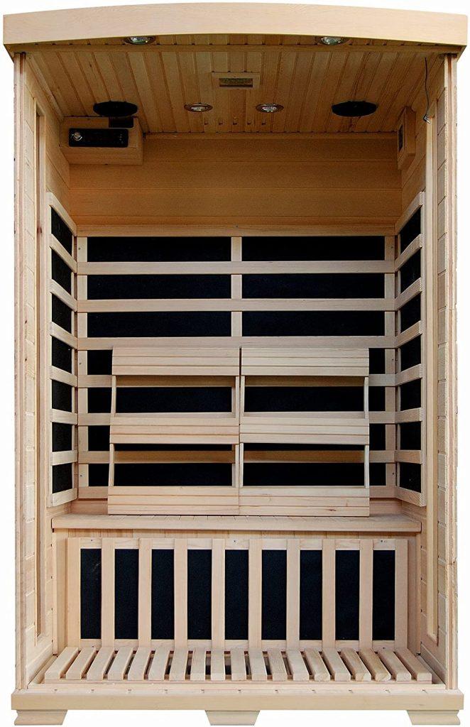 Radiant Saunas 2-person hemlock sauna for sale